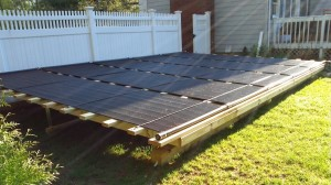 Solar Pool HeatingGround MountNorwell, MA
